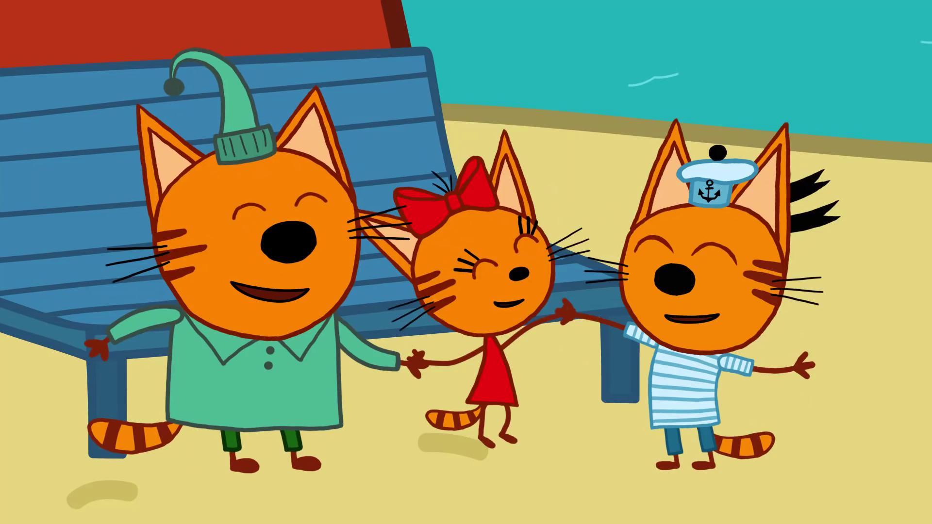 3 кота музыкальная открытка 1 серия, надписями патрик
