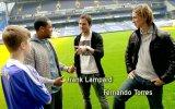 Justin Bieber meets Chelsea Footballers Frank Lampard and Fernando Torres